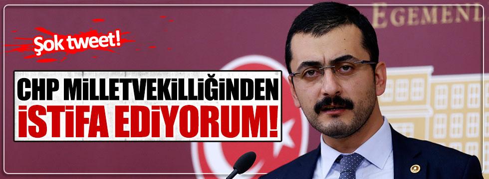 CHP'li Eren Erdem'in Twitter'ından istifa paylaşımı