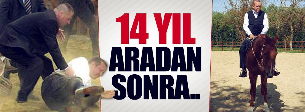 Erdoğan 14 yıl aradan sonra ata bindi