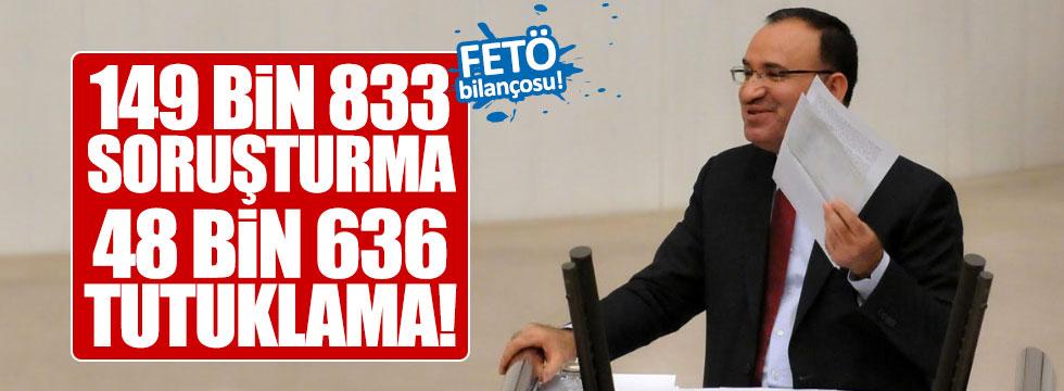 Bozdağ FETÖ'den tutukluların sayısını açıkladı