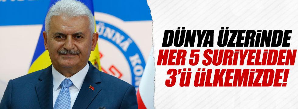 """Başbakan: """"Her 5 Suriyeliden 3'ü ülkemizde"""""""