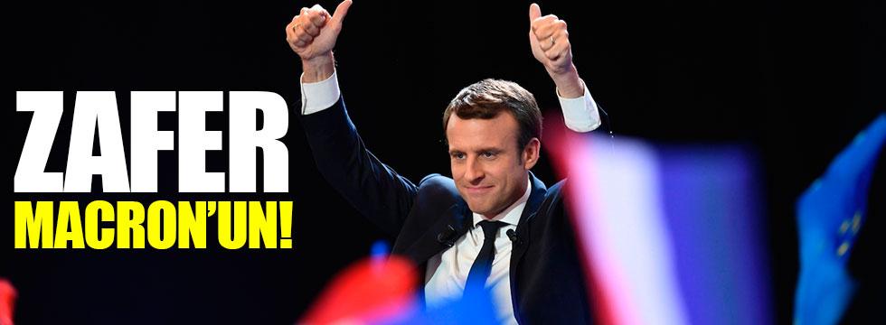 Fransa'da zafer Macron'un!