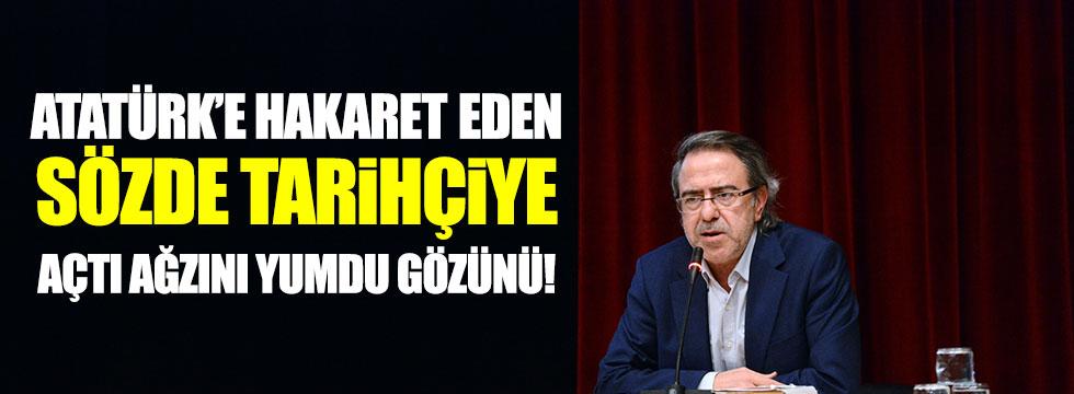 Atatürk'e hakaret eden sözde tarihçiye açtı ağzını yumdu gözünü!
