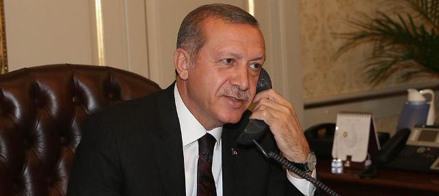 Erdoğan'dan Macron'a telefon