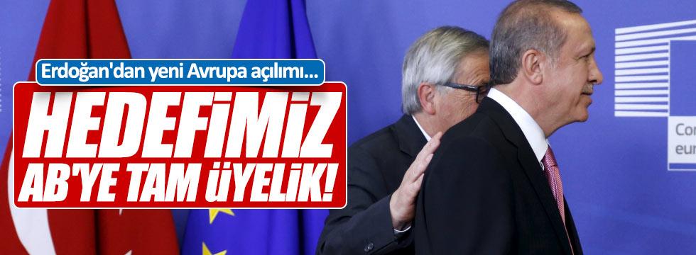 Erdoğan'dan Avrupa'ya tam üyelik açıklaması