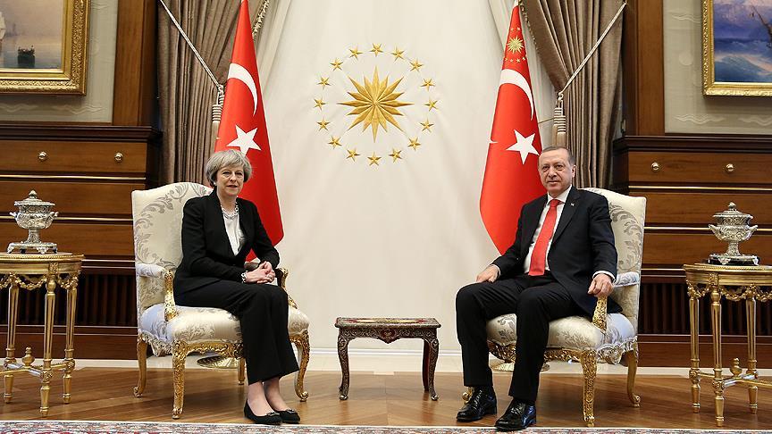 Erdoğan ile May görüştü