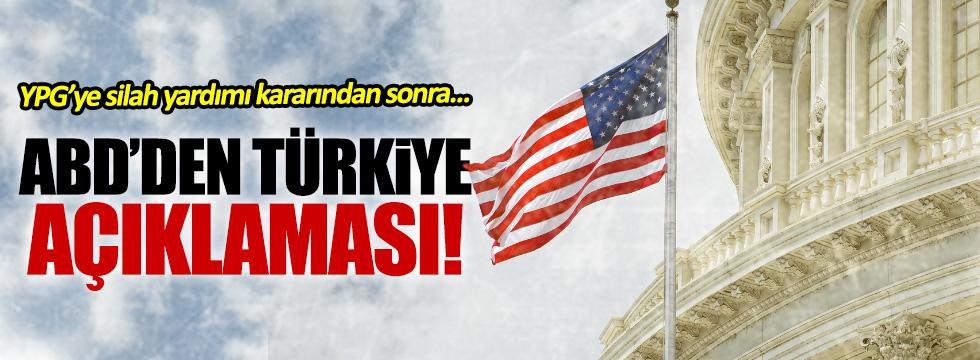YPG'ye silah kararı sonrası ABD'den açıklama