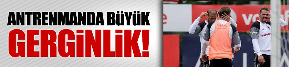 Beşiktaş antrenmanında Caner ve Ersan gerginliği