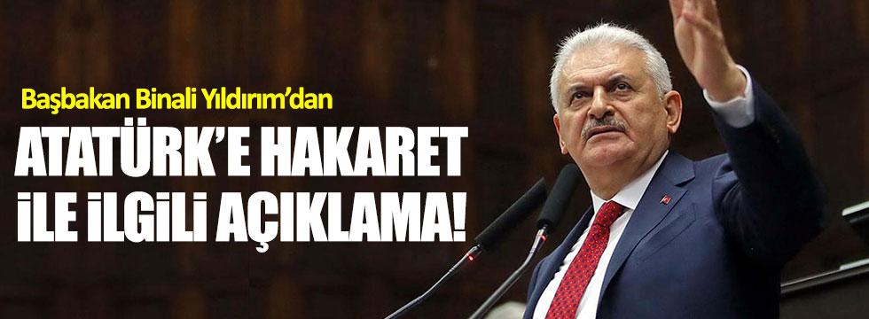 """Yıldırım: """"Atatürk'e yapılacak yakıştırmayı asla kabul etmeyiz!"""""""