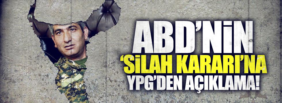ABD'nin 'silah yardımı' kararına YPG'den açıklama