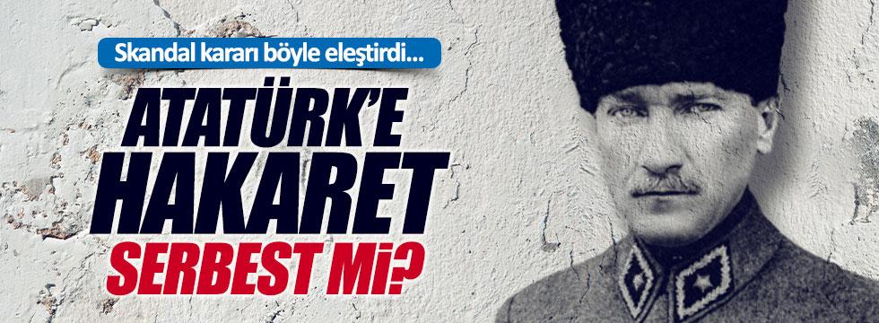 """Öztürk: """"Atatürk'e hakaret serbest mi?"""""""