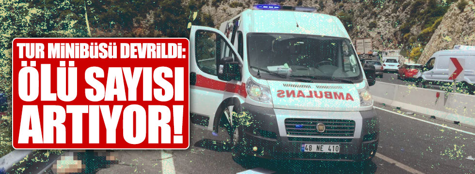 Tur minibüsü devrildi: 24 ölü