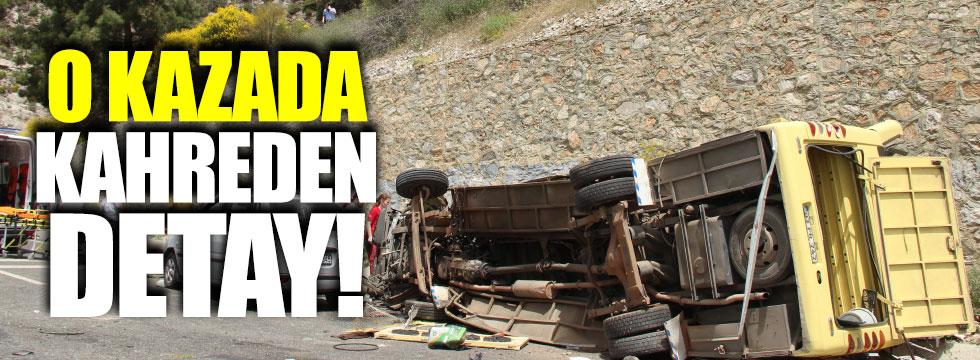 Muğla'daki kazada kahreden detay