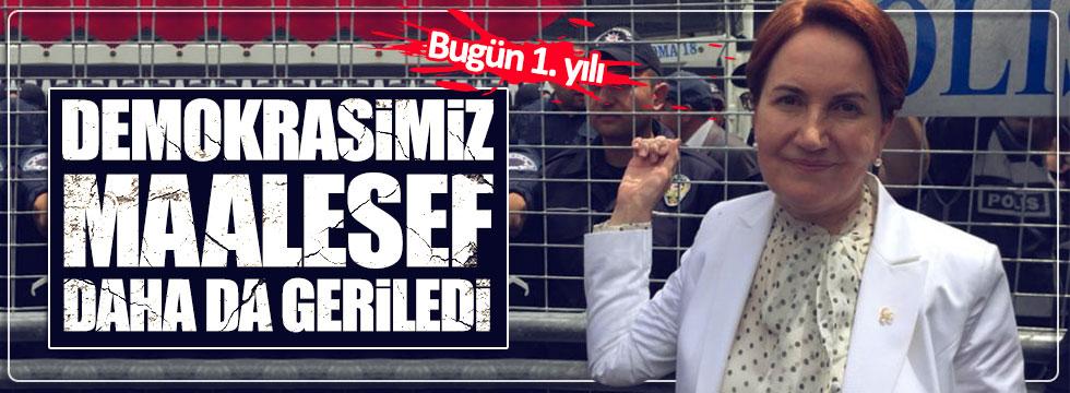 Akşener'den 'demokrasi' tepkisi
