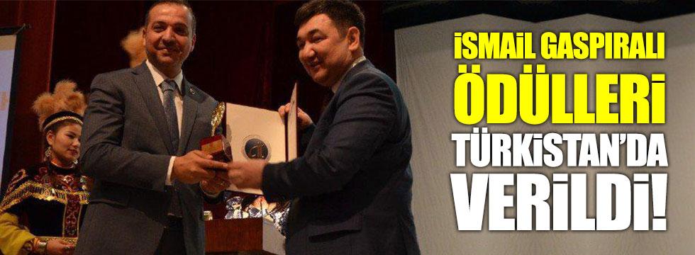 Zorlu'ya Türkistan'da ödül verildi