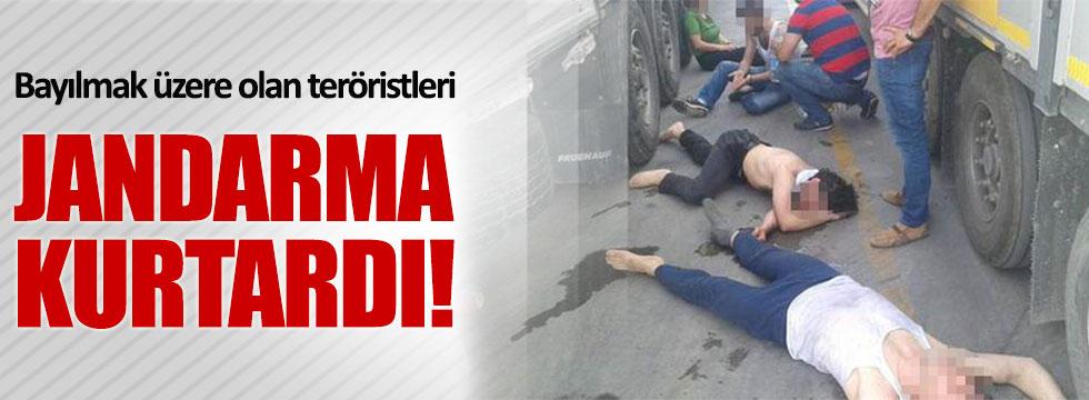 Edirne'de bayılmak üzere olan teröristler son anda kurtarıldı