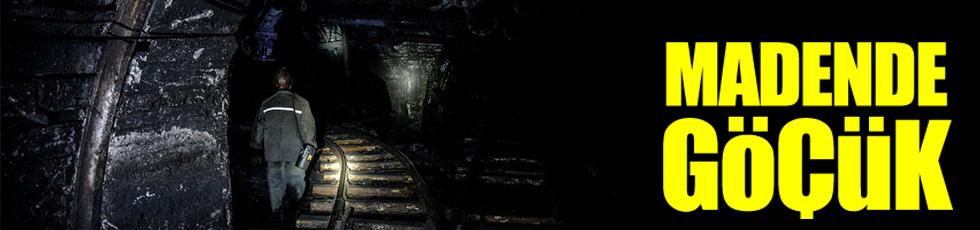 Madende göçük! İşçiler mahsur kaldı