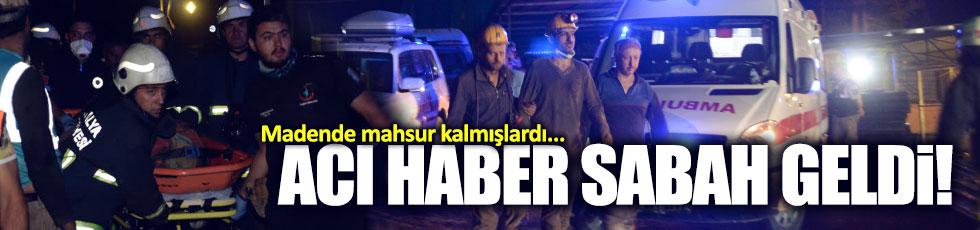 Antalya'daki madenden acı haber