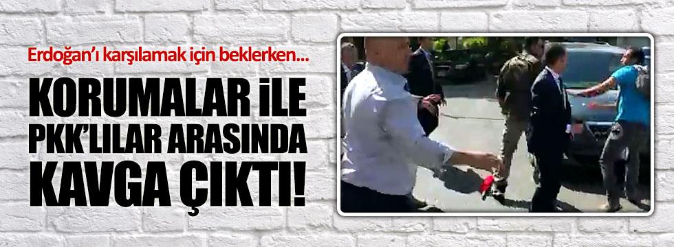 Amerika'da Erdoğan'ın korumaları ile PKK'lılar arasında kavga çıktı!