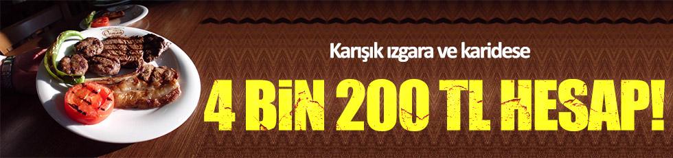 Karides ve karışık ızgara yiyen turistlere 4 bin 200 TL hesap