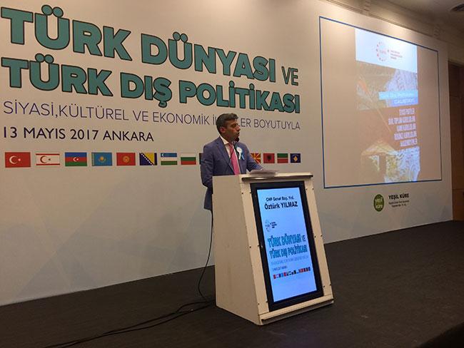 CHP'li Öztürk Yılmaz'dan 'Türk Dünyası' konuşması