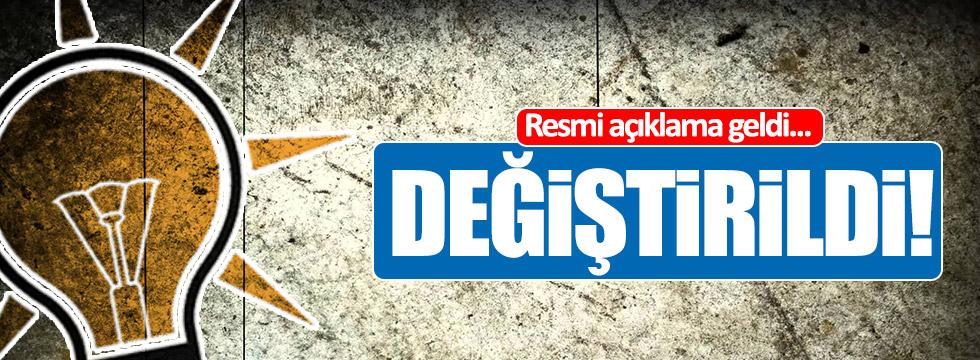 AKP'den resmi açıklama geldi!