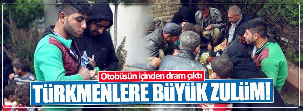 Durdurulan otobüsten 'Türkmen dramı' çıktı