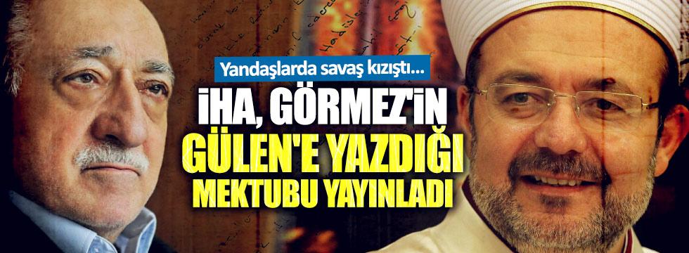 Görmez'den Gülen'e mektup