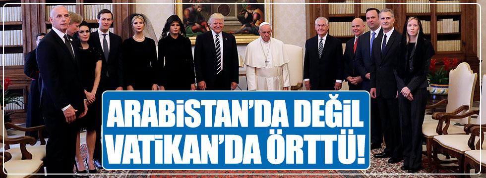 Melania Trump, Arabistan'da değil Vatikan'da başını örtmeyi tercih etti