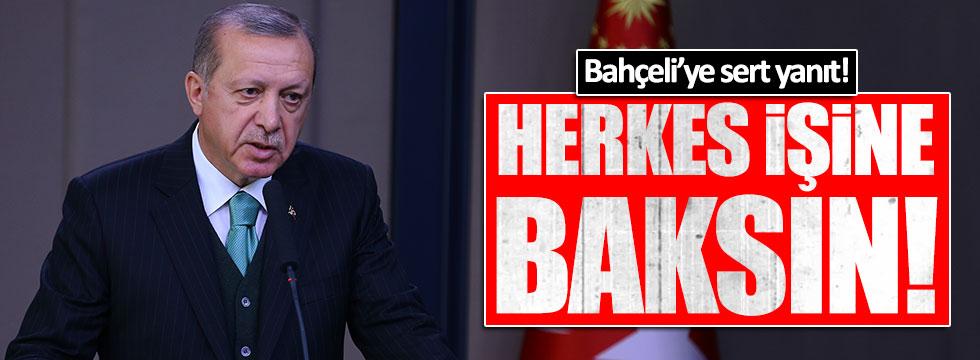 Erdoğan'dan Bahçeli'ye sert yanıt!