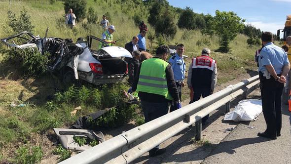 TEM'de feci kaza: çok sayıda ölü var