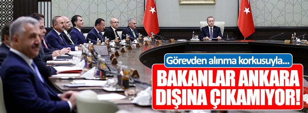 """""""Bakanlar görevden alınma korkusuyla Ankara'dan çıkamıyor..."""""""