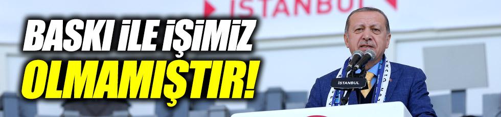 """Erdoğan: """"Baskı ile işimiz olmamıştır"""""""