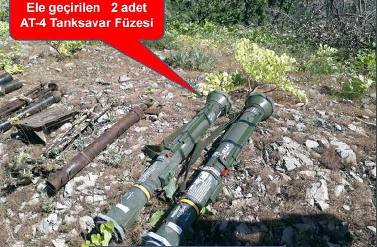 Şırnak'ta AT-4 tanksavar füzesi bulundu