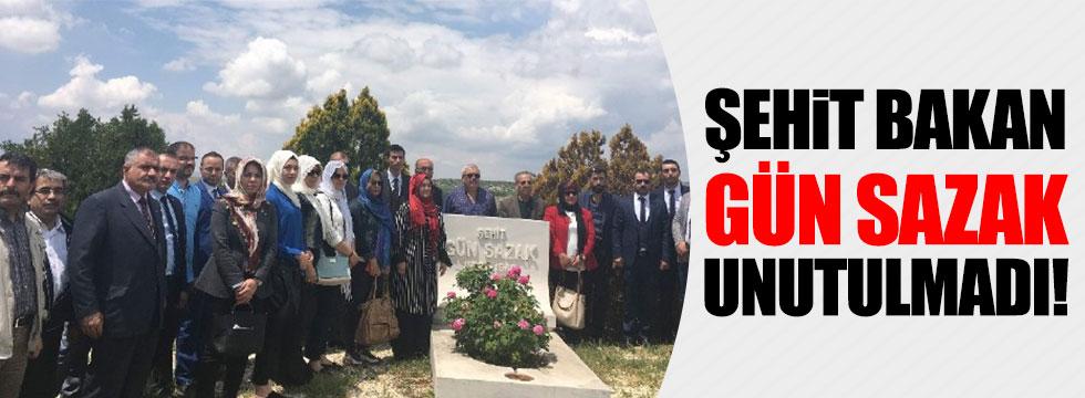 Şehit Bakan Gün Sazak unutulmadı
