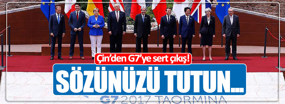Çin'den G7'ye tepki!