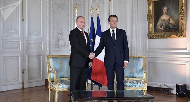 Putin ve Macron'dan Suriye mesajı