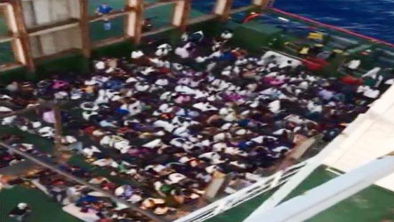 Türk gemisi faciayı önledi