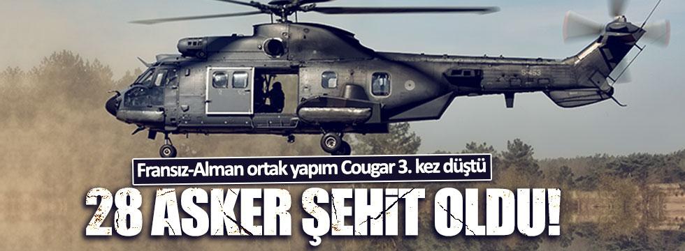 Fransız-Alman yapımı Cougar helikopter 3. kez düşüyor