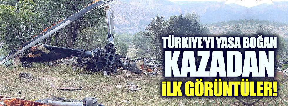 13 askerimiz şehit olmuştu: Kaza yerinden ilk görüntüler