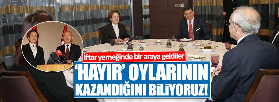 Akşener ve Kılıçdaroğlu iftar yemeğinde bir araya geldi