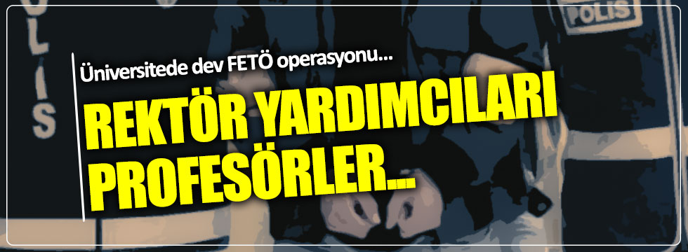 Namık Kemal Üniversitesi'ne  FETÖ operasyonu