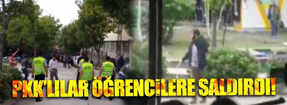 PKK'lılar Ankara Üniversitesi'nde öğrencilere saldırdı