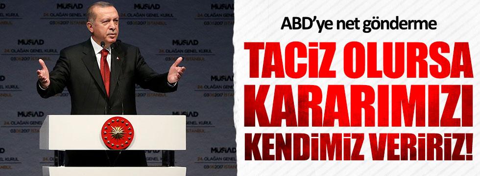 """Erdoğan'dan ABD'ye """"Suriye'nin kuzeyi"""" göndermesi"""