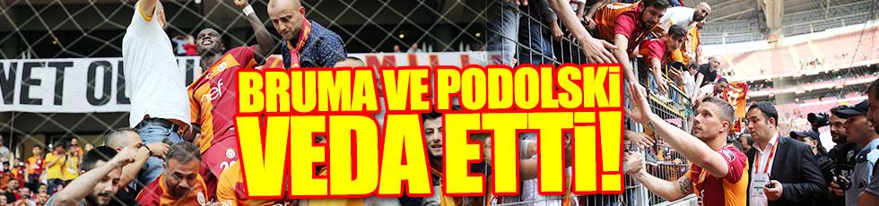 Podolski ve Bruma veda etti
