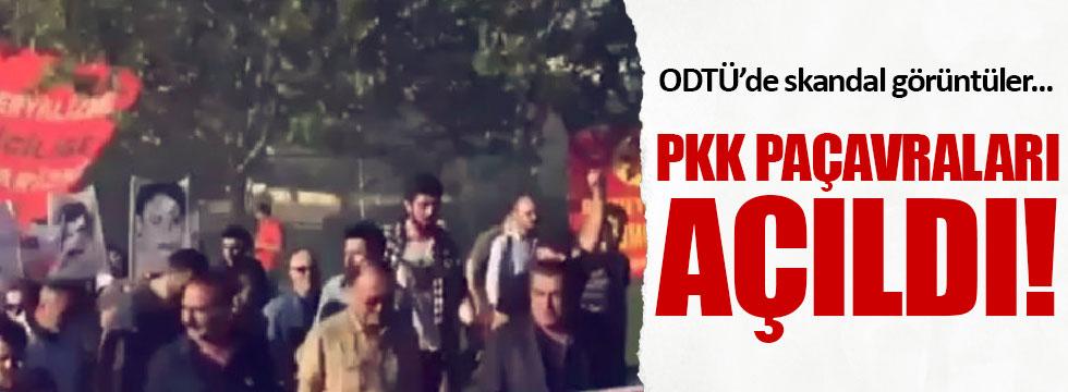 ODTÜ'de PKK paçavralı eylem
