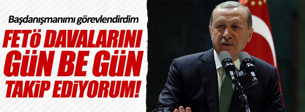 Erdoğan: FETÖ davalarını yakından takip ediyorum