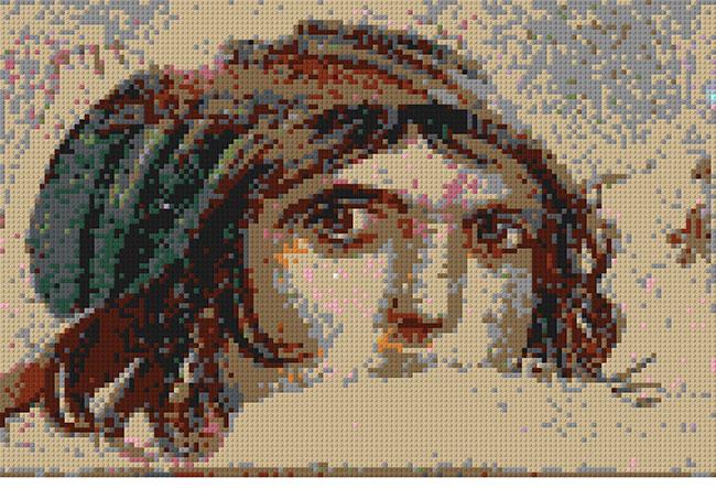 Zeugma'nın 'Çingene Kızı' legosu Bayrampaşa'da