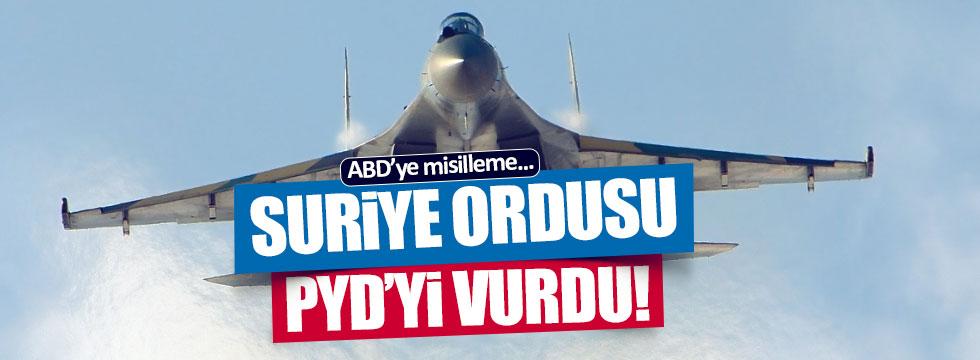 ABD'ye misilleme.. Suriye ordusu PYD'yi vurdu!