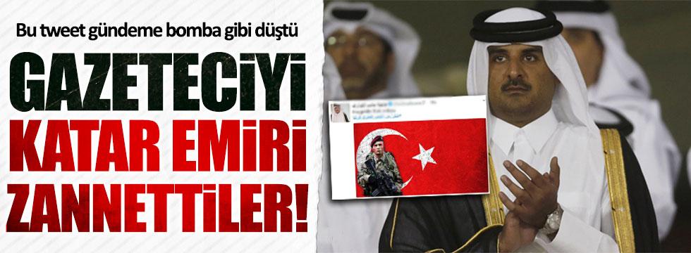 Türk basını gazeteciyi Katar Emiri sanırsa