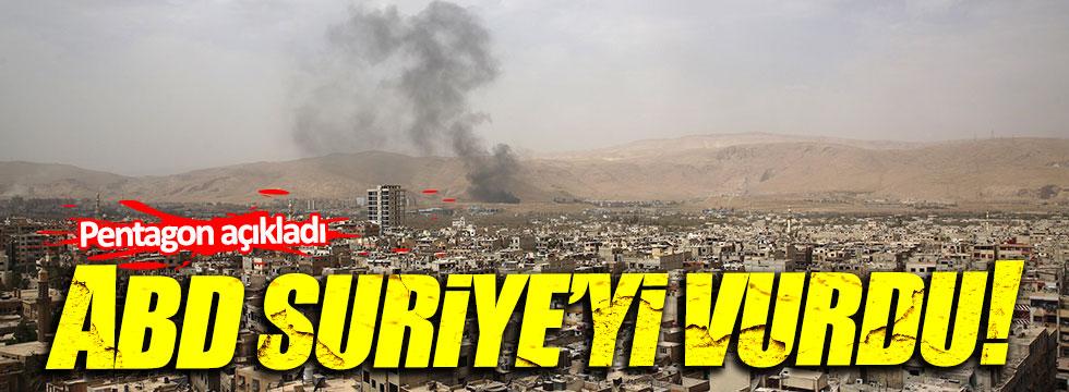 ABD Suriye'yi tekrar vurdu